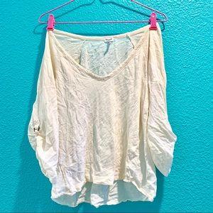 Splendid LA V-Neck 3/4 Sleeve Shirt Blouse